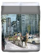 New York 5th Avenue Ride - Fine Art Duvet Cover