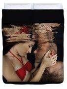 Romantic Couple Underwater Duvet Cover
