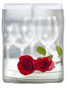 Romantic Dinner Setting Duvet Cover