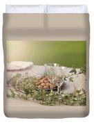 Romantic Garden Table Setting Duvet Cover