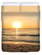Romantic Ocean Swim At Sunrise Duvet Cover