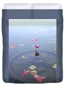 Romantic Pond Duvet Cover