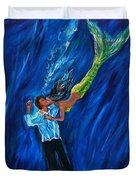 Romantic Rescue Duvet Cover by Leslie Allen