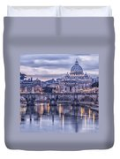 Rome And The River Tiber At Dusk Duvet Cover