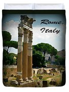Rome Italy Poster Duvet Cover by John Malone