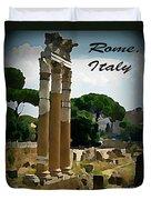 Rome Italy Poster Duvet Cover