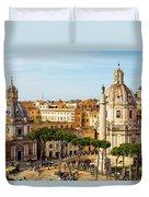 Rome, Italy. Rome, Italy. Piazza Della Duvet Cover