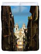 Rome, Italy. View Along Via Dei Duvet Cover