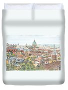 Rome Overview From The Borghese Gardens Duvet Cover by Anthony Butera