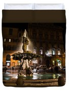 Rome's Fabulous Fountains - Fontana Del Tritone Duvet Cover