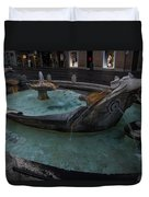 Rome's Fabulous Fountains - Fontana Della Barcaccia - Spanish Steps  Duvet Cover