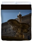 Rome's Fabulous Fountains - Piazza Farnese Fountain Duvet Cover