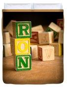 Ron - Alphabet Blocks Duvet Cover