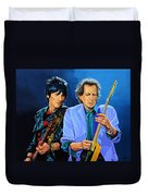 Ron Wood And Keith Richards Duvet Cover