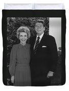 Ronald And Nancy Reagan Duvet Cover