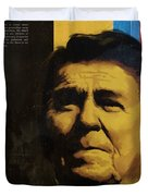 Ronald Reagan Duvet Cover by Corporate Art Task Force