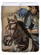 Ronald Reagan Portrait 3 Duvet Cover by Corporate Art Task Force