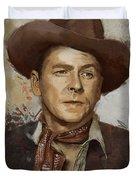 Ronald Reagan Portrait 4 Duvet Cover by Corporate Art Task Force