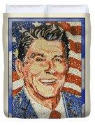 Ronald Wilson Reagan Mosaic Duvet Cover