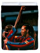 Ronaldinho And Eto'o Duvet Cover