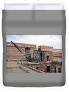 Roof Of The Alte Eisfabrik Ruin In Berlin Duvet Cover