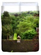 Roof Tops In Countryside Scenery With Trees - Peak District - England Duvet Cover