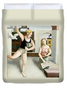 Rooftop Annunciation Two Duvet Cover