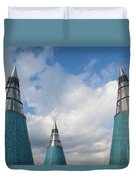 Rooftop Towers At Museum Of Technology Duvet Cover