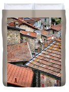 Rooftops Of Apricale.italy Duvet Cover