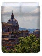 Rooftops Of Rome Duvet Cover