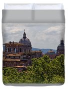 Rooftops Of Rome Duvet Cover