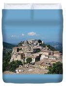 Rooftops Of The Italian City Duvet Cover