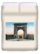 Roosevelt Arch Yellowstone Np Duvet Cover