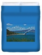 Roosevelt Lake 3 - Arizona Duvet Cover
