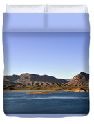 Roosevelt Lake Arizona Duvet Cover by Christine Till