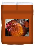 Rooster Colors Duvet Cover