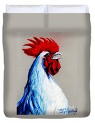 Rooster Head Duvet Cover