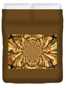 Crowing Rooster Kaleidoscope Duvet Cover