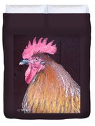 Rooster Watercolor Duvet Cover