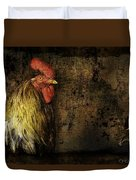 Rooster With Brush Calligraphy Loyalty Duvet Cover