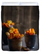 Root Vegetable Crisps Duvet Cover