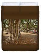 Roots - Banyan Tree Park In Maui Duvet Cover