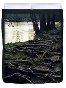 Roots On White River Duvet Cover