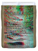 Roots - Use Red/cyan Filtered 3d Glasses Duvet Cover