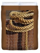 Rope And Net Duvet Cover