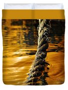 Rope On Liquid Gold Duvet Cover