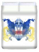Rorschach Type Inkblot Duvet Cover