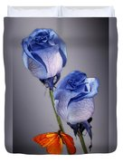 Rosa Azul With Orange Duvet Cover