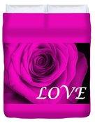Rose 16 Love Duvet Cover