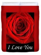 Rose 2 I Love You Duvet Cover